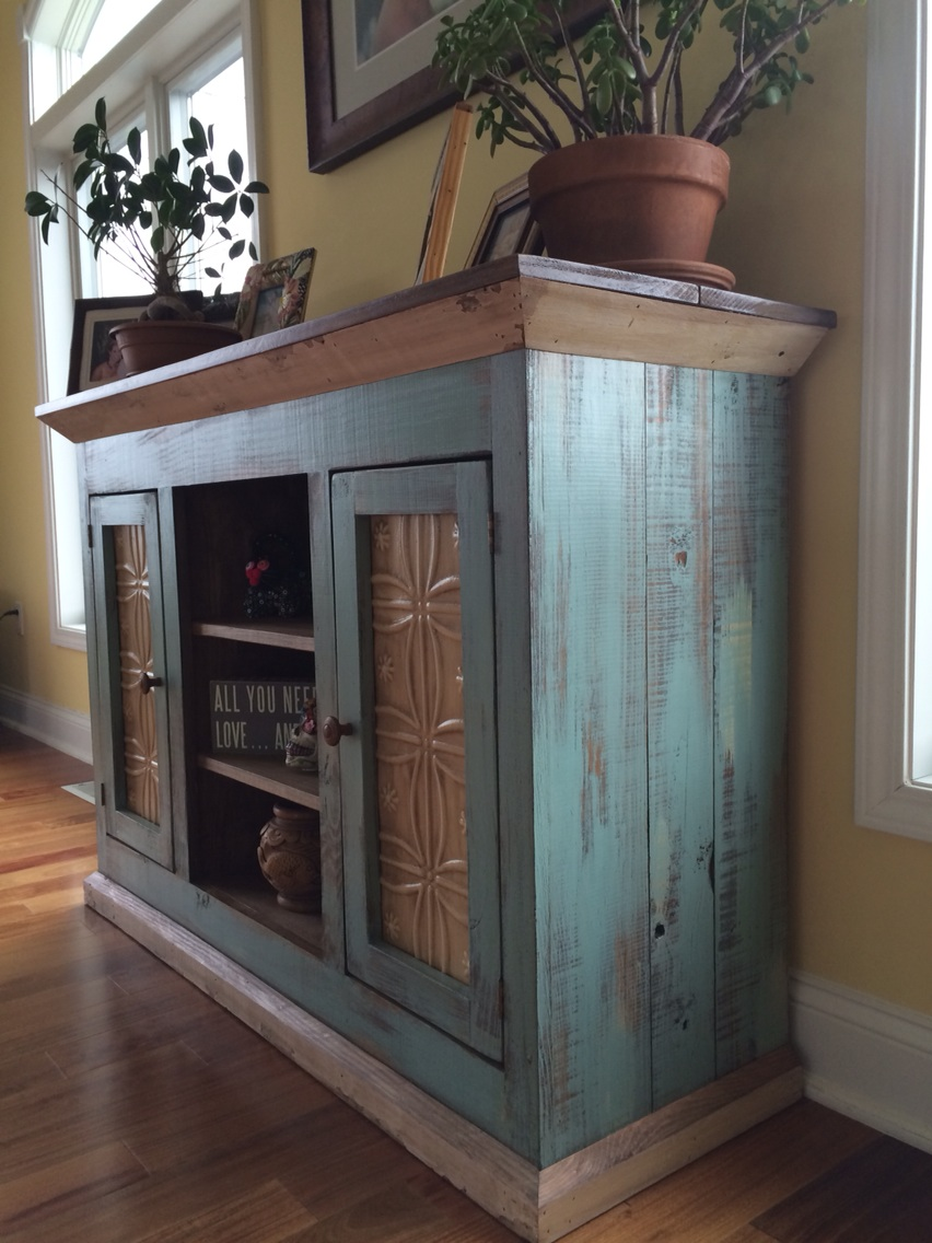 Cottage Blue Media Console