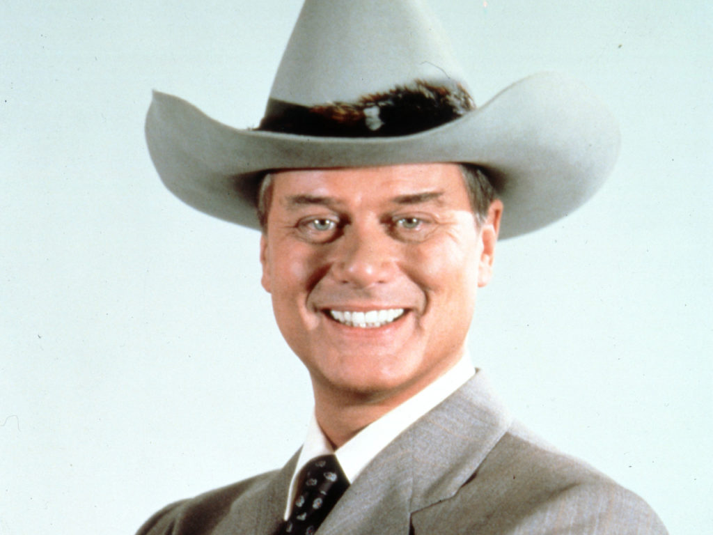 "This 1981 file photo provided by CBS shows Larry Hagman in character as J.R. Ewing in the television series ""Dallas."" Actor Larry Hagman, who for more than a decade played villainous patriarch JR Ewing in the TV soap Dallas, has died at the age of 81, his family said Saturday Nov. 24, 2012. (AP Photo/CBS, file)"