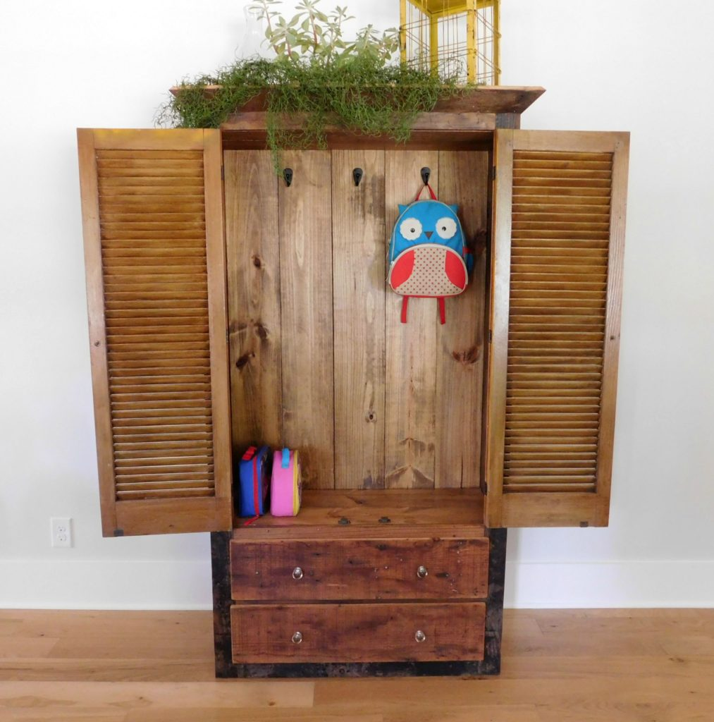 reclaimed wood armoire