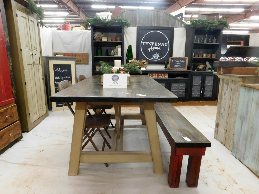 farm house table bench