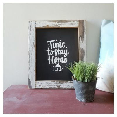 custom framed chalk board