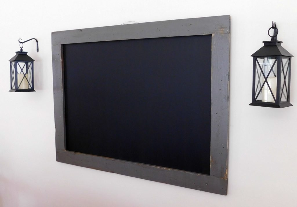 framed chalkboard distressed wood 36x48