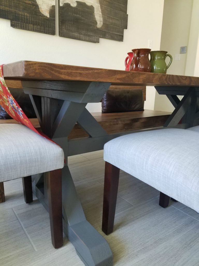 texas made furniture trestle table