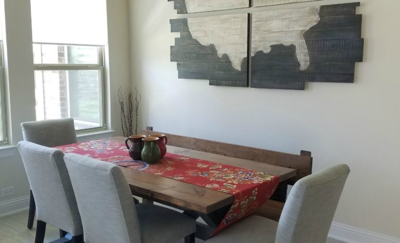 farmhouse table trestle table