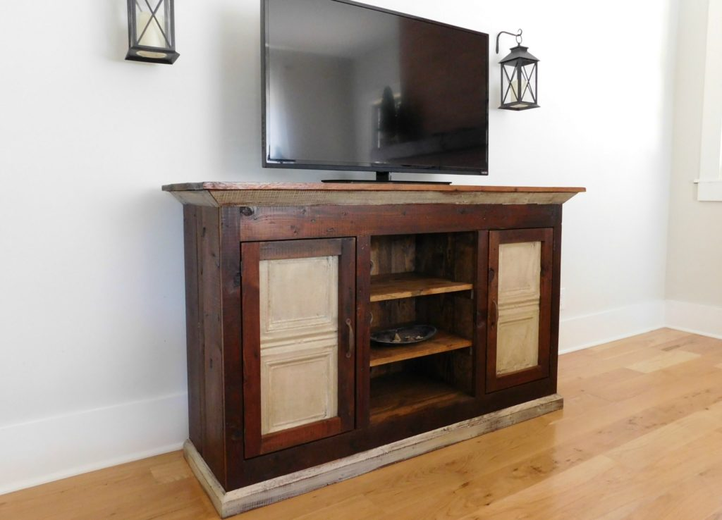 Reclaimed Wood Media Console Rustic Media Console Rustic