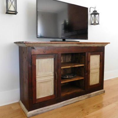 Reclaimed Wood Media Console – TV Cabinet