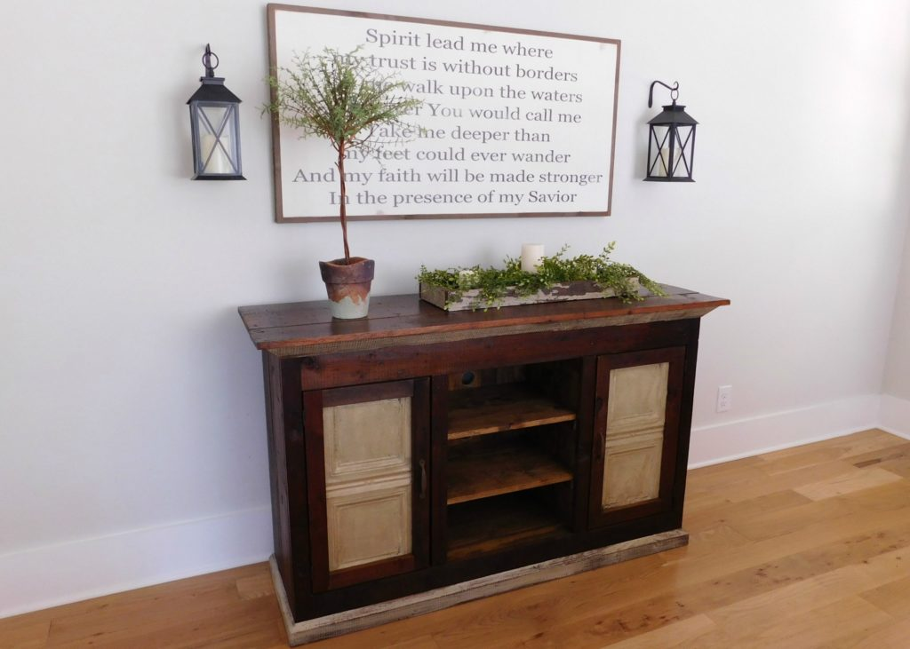 Reclaimed Wood Media Console Tv Cabinet Tenpenny House