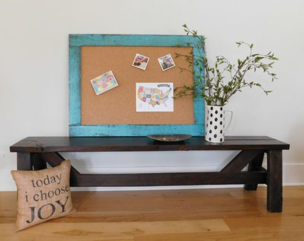 bulletin board turquoise
