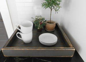 wood tray, ottoman tray