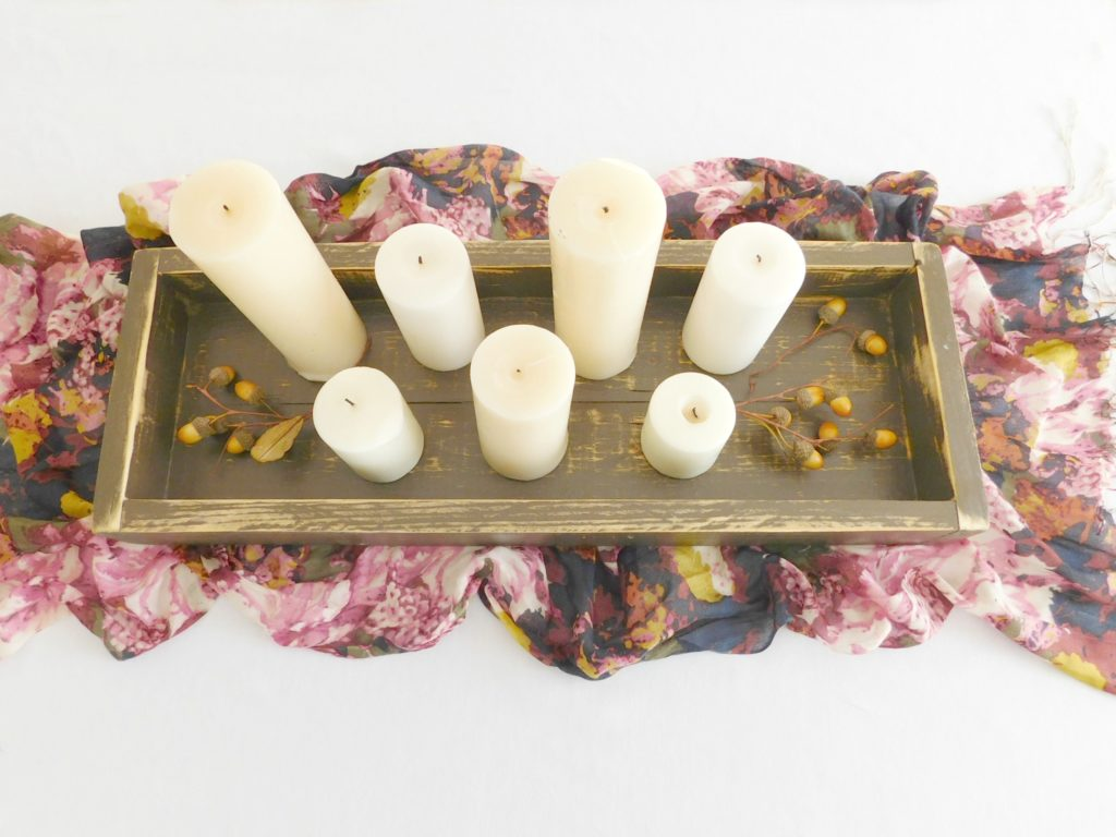 rustic wooden tray brown 3
