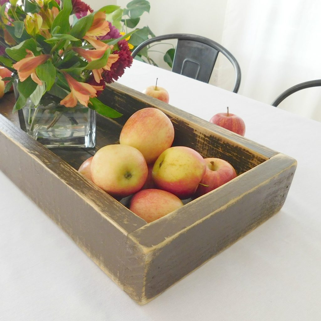 rustic wooden tray brown 2