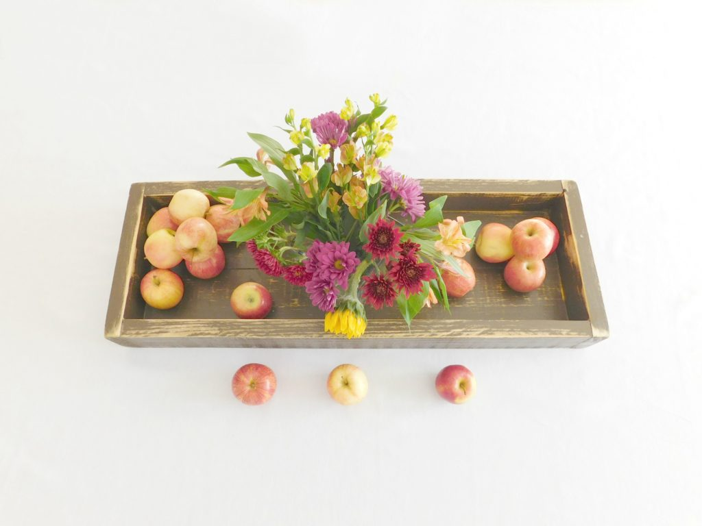 rustic wooden tray brown 1